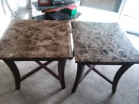 Granite coffee table and in tables