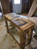 Reclaimed Wood Primitive Hall Or Sofa Table