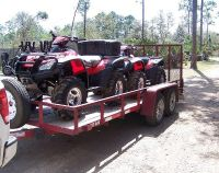 $2,400, Two ATVs 2006 Honda Rincon with Trailer