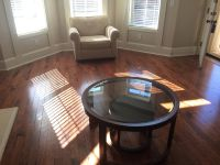 Chair and round coffee table