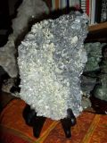 Beautiful Barite on Crystal and Galena Crystal in the Front on The back solid Pyrite Crystal.