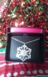 "AVON Silvertone, 16.5"" Necklace - Sparkling Winter Snowflake Collection"