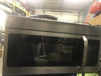 Stainless steel over stove microwave