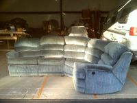 Dual Recliner Curved Sectional Sofa