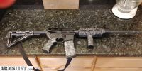 For Sale: Olympic Arms AR 15 with HydroDipped Grey Skull furniture set