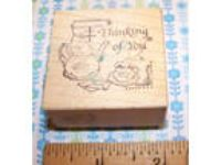 PSX Rubber stamp D-729 tea pot , teacup, Thinking of You;