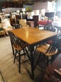Pub Table with 4 swivel chairs