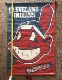 1995 DISCONTINUED Cleveland Indians logo banner