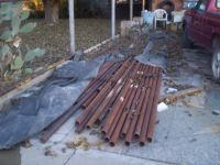 Metal pipes 2 1/2 inch