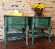 Pair of solid wood night stands
