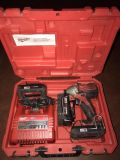 Milwaukee impact driver with charger and 3 batteries
