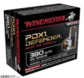 For Sale: Winchester PDX1 Defender Ammunition 380 ACP 95 Grain Bonded Jacketed Hollow Point
