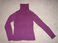 Purple ribbed turtle neck sweater