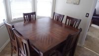 High top dining table w/ six chairs