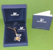 Swarovski Crystal Memories Boy Bear Bow Tie Necklace