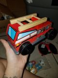 New! Large Wood Fire truck with lights & sounds