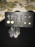 Brand new silver tone stud and Dangle earring set.