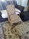 Antique padded chair
