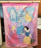 Disney Princess Quilt with Wooden Hanging Bar