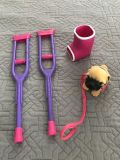 Crutches, cast and dog for 18 dolls (Like American Girl dolls)