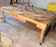 Reclaimed Wood Primitive Coffee Table