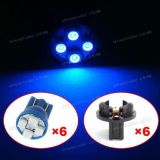 Sell 6pcs Blue LED Bulbs + Sockets T10 194 168 Instrument Panel Dash Lights 12V motorcycle in Milpitas, California, United States, for US $6.55