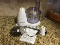 Hamilton Beach 8 cup food processor, pulse feature does not work but other two speeds do. Very clean.