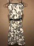 White and black dress - size 4