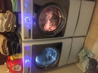 Kenmore Elite front loader washer and dryer w/stands