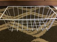 White metal basket 14x8x6 great for pantry