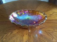 Antique Gold Carnival Glass Bowl