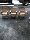 Old wood folding child s chairs (3)
