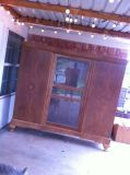 Antique solid wood armoire