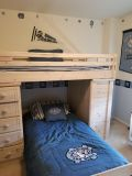 Wood Bunk Beds and Dresser