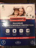 Allerease size King bed protector
