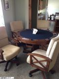For Sale/Trade: Poker Table, 4 chairs, wet bar/blackjack table/roulette table