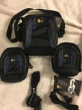 All brand new. 1 camcorder case and 2 digital camera cases. Case Logic brand.