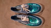 Teal Sequin Sperry Top Sider Size 7