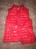 Sz small red puffed vest