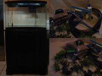 20 Gallon Aquarium with stand and accessories
