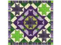 Easy Quilt Kit/Celtic Cross Purple/Green/Precut Fabrics