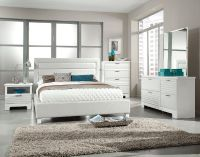 $629, 93001 Action white Upholstered queen set