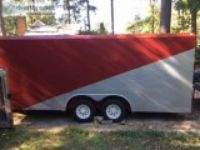 .xft W-W fully enclosed dual-axle utility trailer