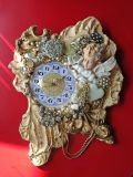 Rare and Beautiful Linda Varro Valentines Wall Clock
