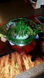 Green / Depression Glass Juicer