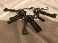 Authentic Antique Keys ~ NOT REPRODUCTIONS: LOT of NINE for Necklaces ~ Charms ~ Crafts ~ Jewelry ~ More