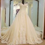 Lupita's Lace A Line Cap Sleeves Wedding Dress