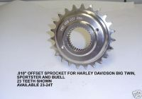 """Purchase HARLEY BIG TWIN SPORTSTER BUELL BIG TIRE .750"""" OFFSET FRONT SPROCKET 22 TEETH motorcycle in Clearwater, Florida, US, for US $67.95"""