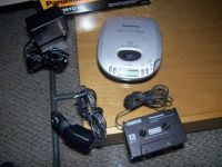 PANASONIC PORTABLE CD PLAYER  WITH CAR CASSETTE ADAPTER, AC POWER CORD