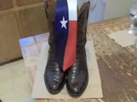 $200, Pair of Lucchese Ostrich Boots 812 Burgandy